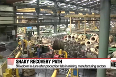 Gov't pinpoints slowdown in industrial output for shaky recovery path