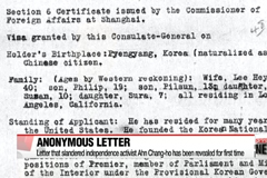Letter that slandered independence activist Ahn Chang-ho has been revealed for first time