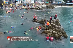 Immersing in summer sports in Gangwon-do Province