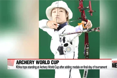 Korea tops standing at Archery World Cup after adding medals on final day of tournament