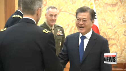 Pres. Moon asserts N. Korean nuclear and missile issues must be resolved peacefully