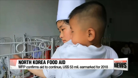 WFP confirms aid to continue, US$53 mil. earmarked for 2018