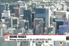 Annual wages of Koreans rose on-year in 2016