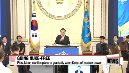 President Moon address various questions during unscripted press conference