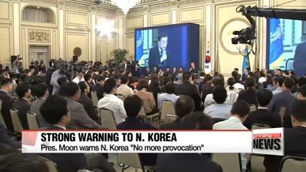 """North Korea's completion of ICBM tipped with nuclear warhead is President Moon's """"red line"""""""