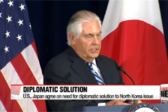 U.S., Japan agree on need for diplomatic solution to North Korea issue