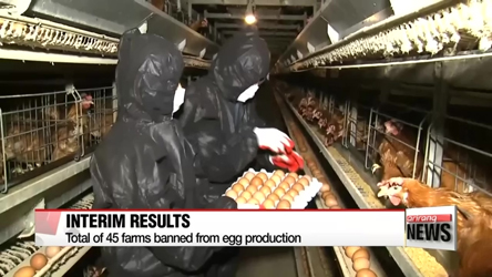 Government announces interim results of eggs inspection