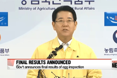 Government announces final results of eggs inspection