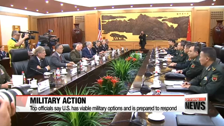 Top U.S. officials reiterate military option still in play on N. Korea...