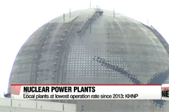 Korean nuclear reactor operation rate falls to lowest level since 2013
