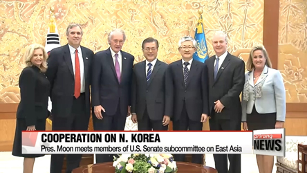 Pres. Moon meets with U.S. and Japanese lawmakers, discussing Seoul's ...