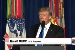 President Trump outlines new U.S. strategy on Afghanistan