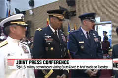 Top U.S. military commanders visiting S. Korea to hold joint press conference