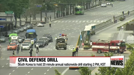 South Korea to hold nationwide civil defense drill