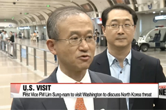 Seoul's vice foreign minister to visit Washington to discuss North Korea threat