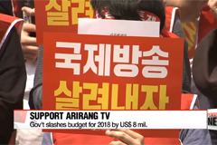 Arirang TV calling for government action in securing stable financial, legal foundation