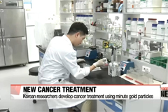 Korean researchers develop cancer treatment using nano-gold particles