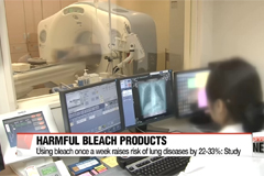 Using bleach and disinfectants can increase risk of fatal lung disease