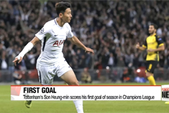 Tottenham's Son Heung-min scores his first goal of season in UEFA Champions League