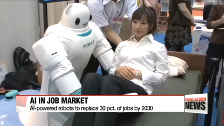 AI-powered robots to replace 30 pct. of jobs by 2030