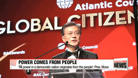 South Korean President Moon Jae-in dedicates 2017 Global Citizen Award to the Korean people