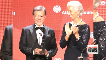 S. Korean President receives Global Citizen Award