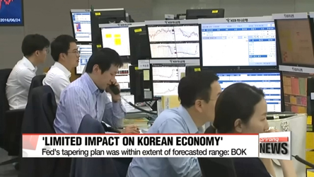 BOK chief says Fed's tapering plan will have limited impact on Korea