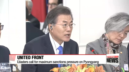 South Korea, U.S. and Japan call for strict enforcement of sanctions on North Korea