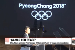 President Moon promotes 2018 Olympics as opportunity for peace and reconciliation with North Korea