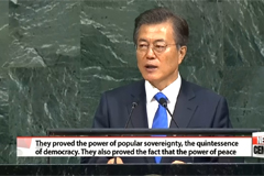 Peace the central theme of South Korean President's maiden speech at UN