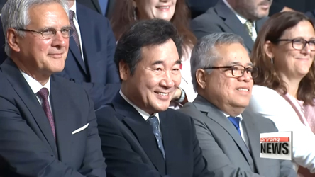 Ministers and senior officials from Asia and Europe talk about economy at the 7th ASEM Economic Ministers' Meeting held in Korea