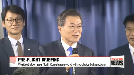 President Moon says it's time to enhance pressure and sanctions on North Korea