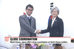 Foreign ministers of S. Korea and Japan vow close coordination on N. Korea