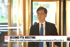 Korea, U.S. to hold 2nd meeting on possible amendments to FTA on Oct. 4