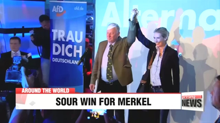 Merkel wins fourth term but loses support