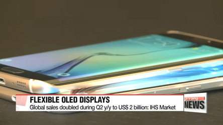 Global sales of flexible OLED displays doubled during Q2 y/y