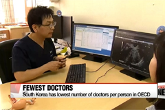 Korea has lowest number of doctors per person in OECD
