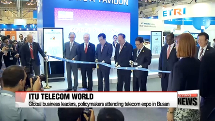 Busan hosts gov't, business leaders for ITU Telecom World