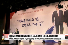 President Moon urge Pyongyang to return to peace