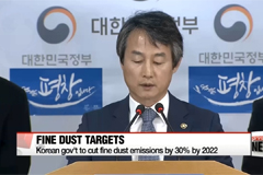 Korean gov't announces a new comprehensive set of measures to tackle fine-dust issue