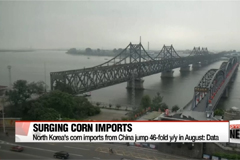 North Korea's corn imports from China surge amid food shortage speculation