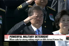 South Korean President Moon Jae-in vows powerful military deterrent, early OPCON transfer