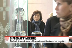 Top North Korean diplomat in Moscow to meet Russian nuclear negotiator