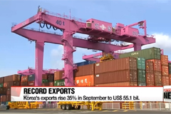 Korea's exports rise 35% in September to US$ 55.1 bil.