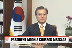 President Moon Jae-in issues Chuseok message focusing on harmony and unity