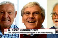 Three biophysicists win 2017 Nobel Prize in chemistry for developing cryo-electron microscopy