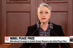 Head of Nobel Peace Prize group ICAN chief calls on U.S., North Korea to stop making threats