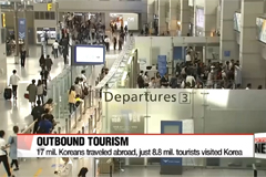 No. of Koreans traveling abroad double the number of foreigners visiting Korea