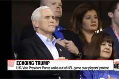 Trump claims to have told Pence to walk out of NFL game