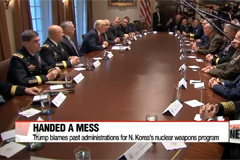Trump claims he was 'handed a mess' in North Korea